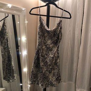 Crepe Snake Print Dress
